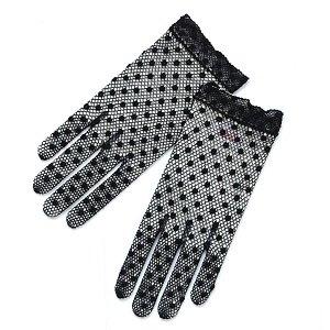3 sfumature di nero - guanti Polka dots