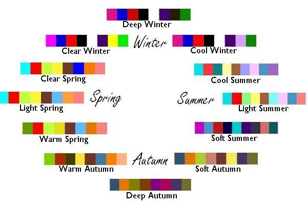 Il cerchio delle dodici stagioni armocromia