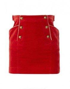 3 sfumature di rosso - Rosso d'Ordinanza - gonna