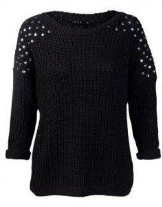 3 sfumature di nero - maglione a tutto rock