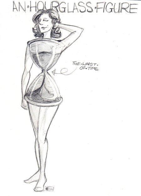 Una donna a clessidra ha nella vita stretta la sua caratteristica precipua(Immagine di VanHinck, Deviantart)