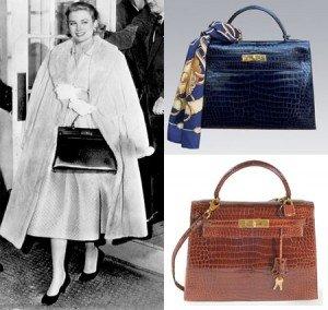 Grace Kelly con la borsa a lei dedicata