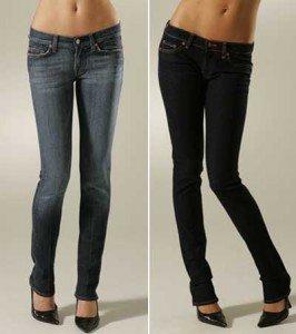 Una donna a rettangolo può certamente permettersi un paio di skinny jeans