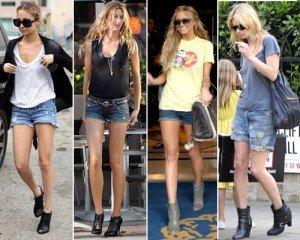 Una donna a mela può osare perfino gli shorts di jeans!