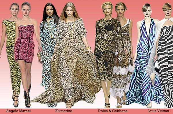 Leopardato ma anche tigrato, zebrato e pitonato: in una parola Animalier.
