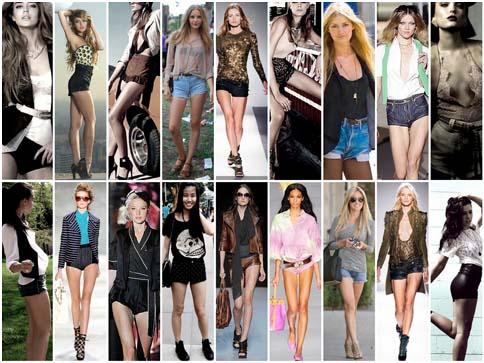 """Pantaloncini cortissimi noti per essere catalizzatori di sguardi: in due parole """"hot pants""""."""