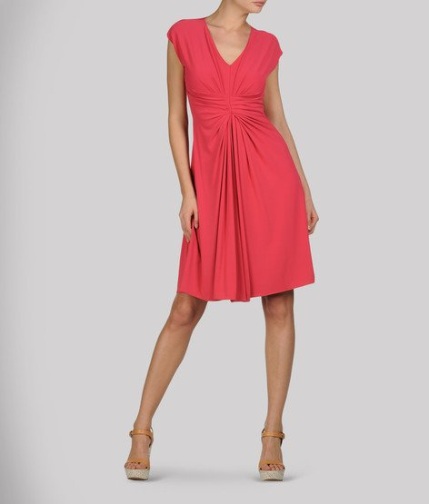 Vestito rosso in jersey (Emporio Armani).