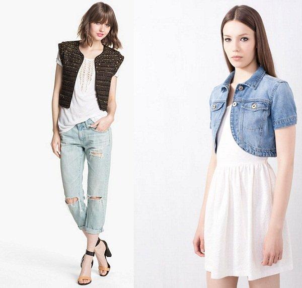 Il micro giacchino, il nuovo trend primavera estate 2013 micro giacchino borchiato e jeans
