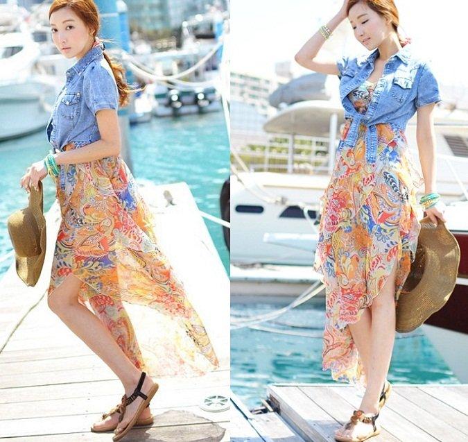 Il micro giacchino, il nuovo trend primavera estate 2013 micro giacchino sopra maxi dress