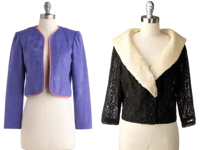 La parola d'ordine del micro giacchino è: vintage! Foto da: Modcloth.com