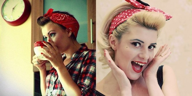 Fiocco in testa pin up