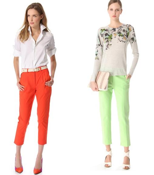Come mi vesto per un colloquio di lavoro? Il look per lei pantaloni colorati
