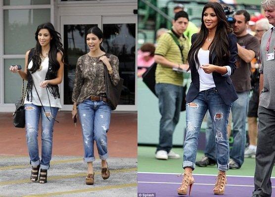 I jeans perfetti per le donne curvy kim e kourtney kardashian