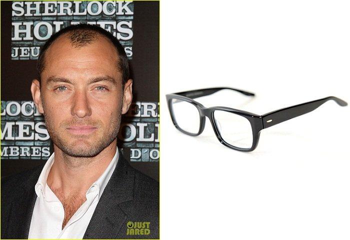 Tutti gli occhiali da vista per lui secondo la forma del viso jude law viso ovale