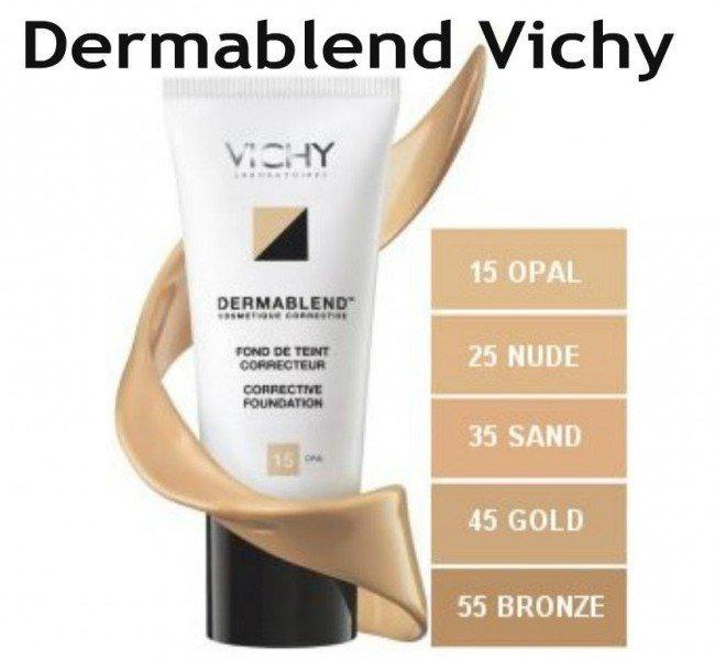 Makeup bocca piccola - Applica un fondotinta coprente come il Dermablend di Vichy