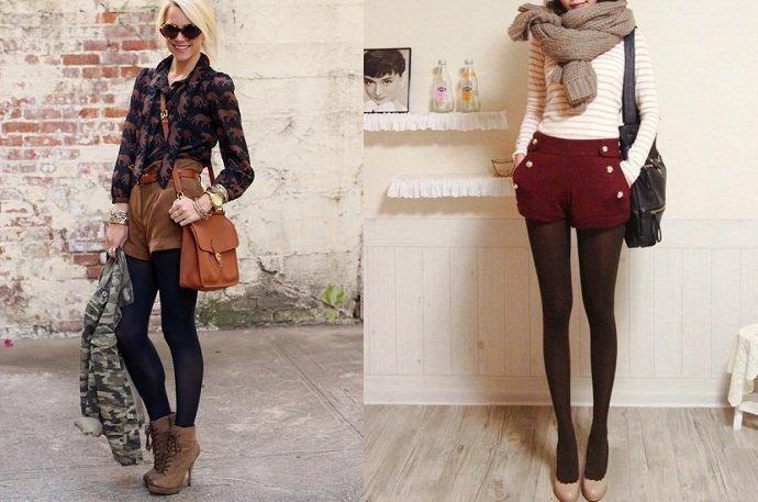 3 capi primavera estate 2013 che puoi riutilizzare in autunno shorts e calze coprenti