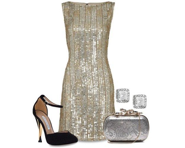 Come mi vesto a Capodanno? Consigli fashion per lei outfit capodanno vestito argento