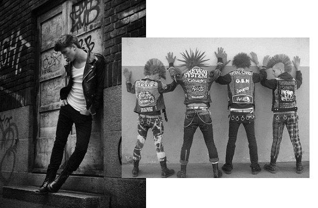 Giacca biker da uomo tutti i look da provare stile punk rock uomo