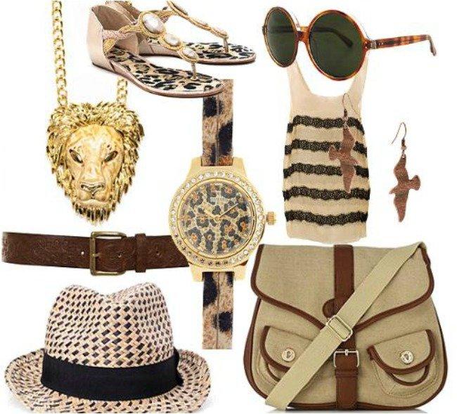 Accessori stile safari.
