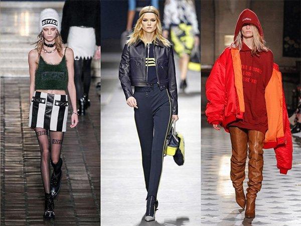 Tendenze moda donna Autunno / Inverno 2017: Streetwear sportivo