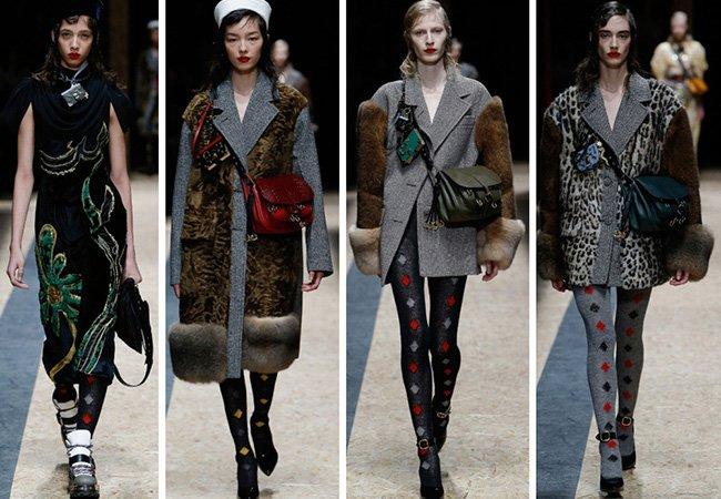Tendenze moda donna Autunno / Inverno 2017: Borse in tinta, dettagli in pelliccia e collant