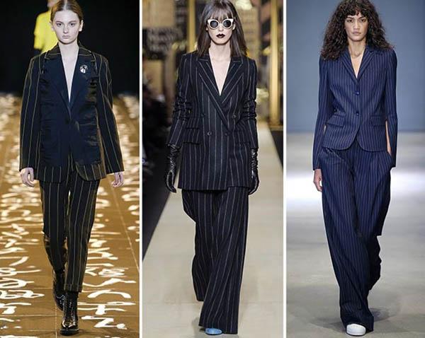 Tendenze moda donna Autunno / Inverno 2017: Tailleur gessato