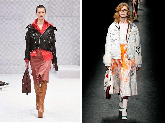 Tendenze moda donna Autunno / Inverno 2017: Chiodo e giubbotto in denim