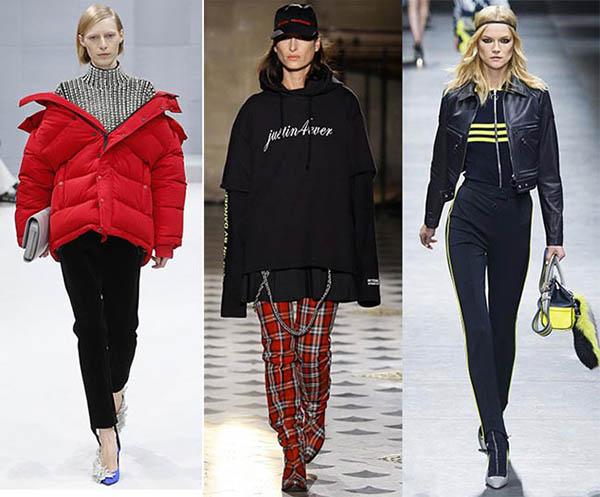 Tendenze moda donna Autunno / Inverno 2017: piumini e pants