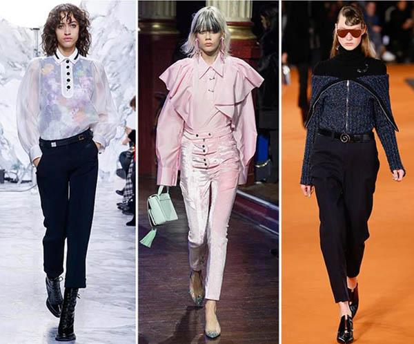 Tendenze moda donna Autunno / Inverno 2017: Pantaloni a vita alta